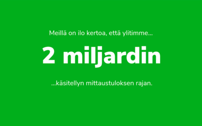2 miljardin rajapyykki rikki!