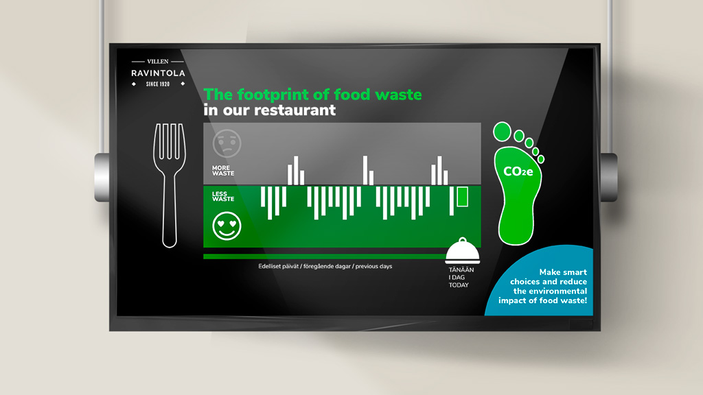 With Food Waste Tracker, you can also display the amount of loss on the screen.
