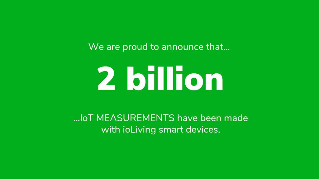 ioLiving crossed the 2 billion mark